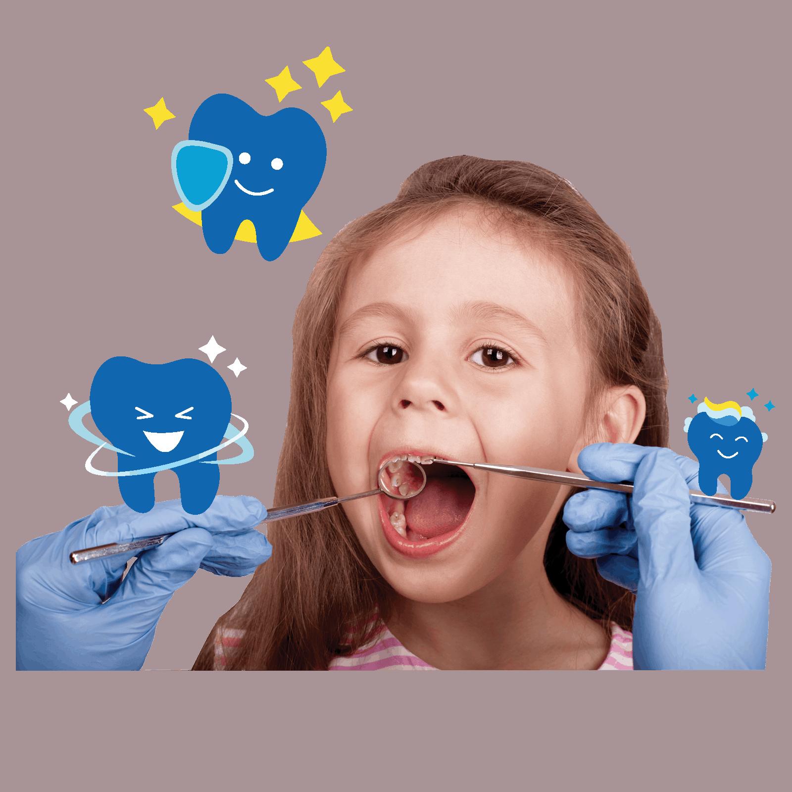 Sunbird Ortho - girl young teeth check tooth